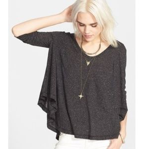 Free People Tambourine Jersey Tee Oversized swing
